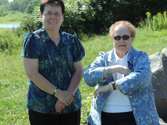 """Lee Gridley, right, with Alice Alsworth at a Genesee River Wilds event. The Allegany County Board of Legislators remembered Gridley this week as a """"volunteer extraordinaire."""""""