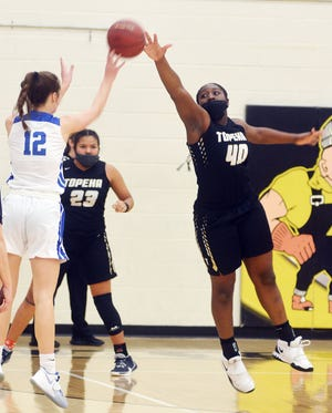 NiJaree Canady scored 29 points with nine blocked shots in a 79-50 win for Topeka High over Kapaun-Mt. Carmel.