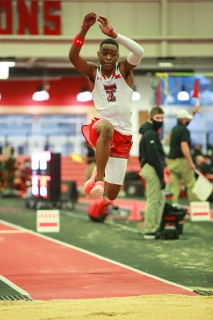 Texas Tech's Safin Wills, shown here competing at a meet during indoor season, qualified for his first NCAA outdoor championships on Friday in College Station. The freshman from Jamaica went a personal record 52 feet, 9 1/4 inches, good for eighth with the top 12 advancing to next month's national meet in Eugene, Oregon.
