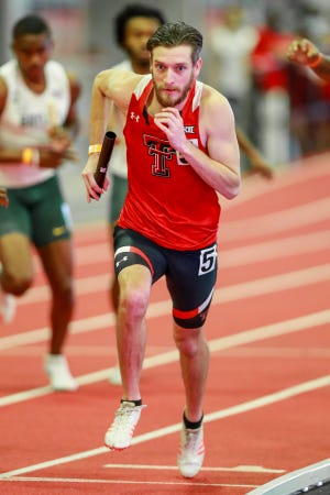 Texas Tech's Chancellor Stephenson, pictured here in a meet earlier this season, won the 400 meters Friday in the Texas Tech Shootout. Stephenson, a graduate student from Whitehouse, ran 46.86 seconds, his personal best indoors.