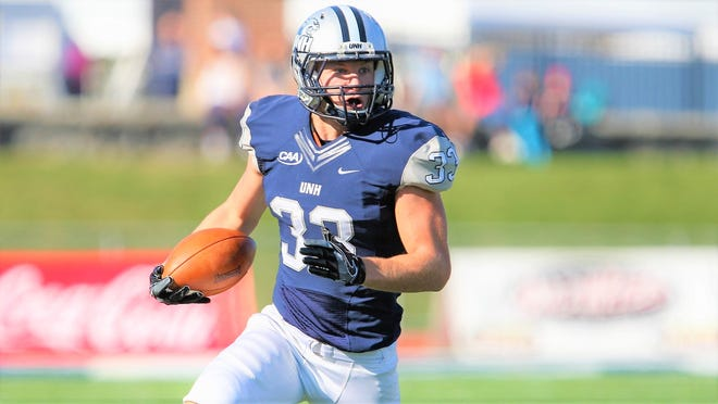 Evan Horn will be back in the secondary this spring season for the University of New Hampshire football team. Horn led the team in solo tackles (51), total tackles (70), and interceptions (four) in 2019 season.