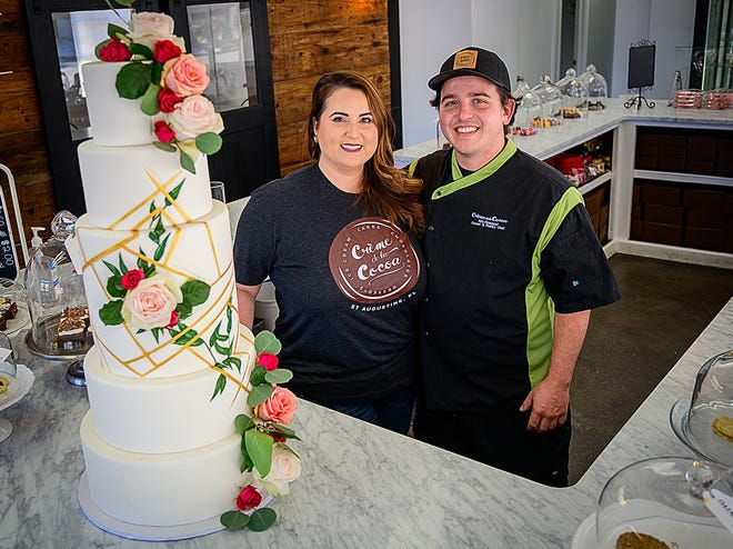 Bailey and Nils Rowland are owners of Crème de al Cocoa bakery in St. Augustine.