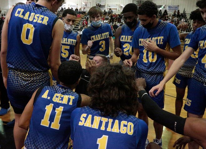 The Charlotte High boys basketball team will play in the Class 6A state semifinal 8 p.m. Thursday against Mater Charter Academy at RP Funding Center in Lakeland.