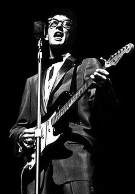 """On Feb. 3, 1959, rock-and-roll stars Buddy Holly (pictured), Ritchie Valens and J.P. """"The Big Bopper"""" Richardson died in a small plane crash near Clear Lake, Iowa."""