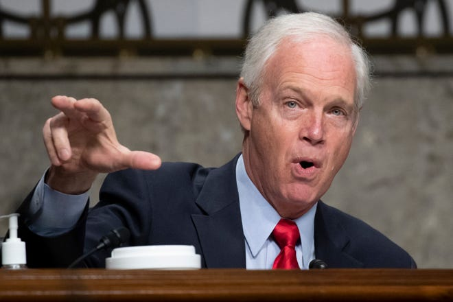 Sen. Ron Johnson, R-Wis., speaks during a confirmation hearing for United States Ambassador to the United Nations nominee Linda Thomas-Greenfield before the Senate Foreign Relations Committee Wednesday in Washington.