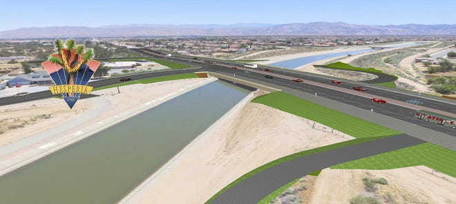 A rendering of the new Ranchero Road bridge in Hesperia. Construction on widening the road is expected to take place July 2021.