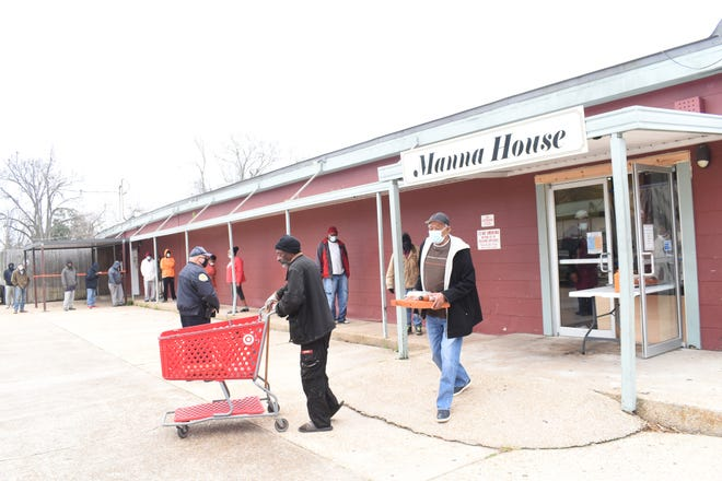 """The Manna House has been serving approximately 6,000 meals a month. They are open 365 days a year from 11:30 a.m. to 1:30 p.m. at2655 Lee St where it has been since it opened on May 1, 1990. """"The line from 11:30 to probably about a quarter to 12 is long and then after that it's groups of 10,"""" said Jessica Viator, executive director. """"But they're there waiting for us to open. There's a lot of people in our community that are hungry."""""""