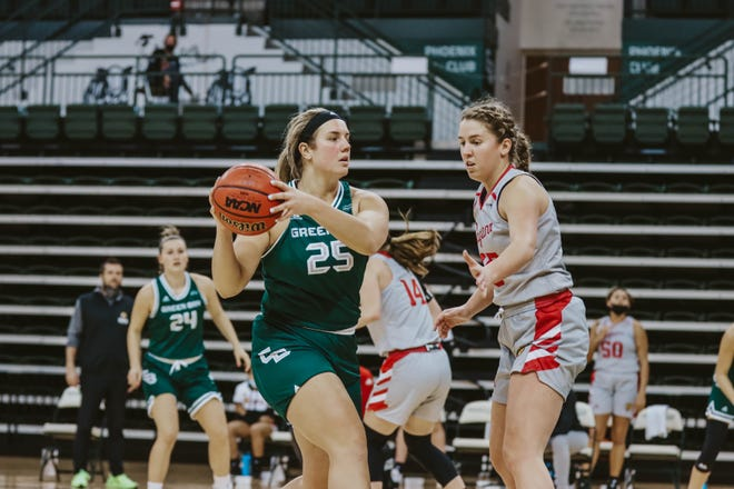 Senior Lyndsey Robson had eight points and shot 4-for-8 in UWGB's 68-61 loss to IUPUI on Saturday at the Kress Center.