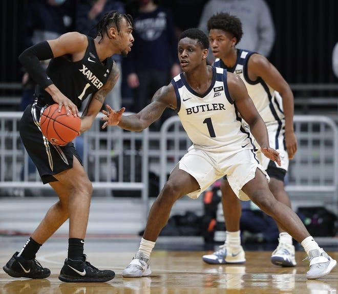 Senior guard Paul Scruggs stepped up when Xavier's 20-point lead at Butler was cut to seven points and the Musketeers went on to a  68-55 victory. XU improved to 11-2 overall and 4-2 in the Big East Conference.