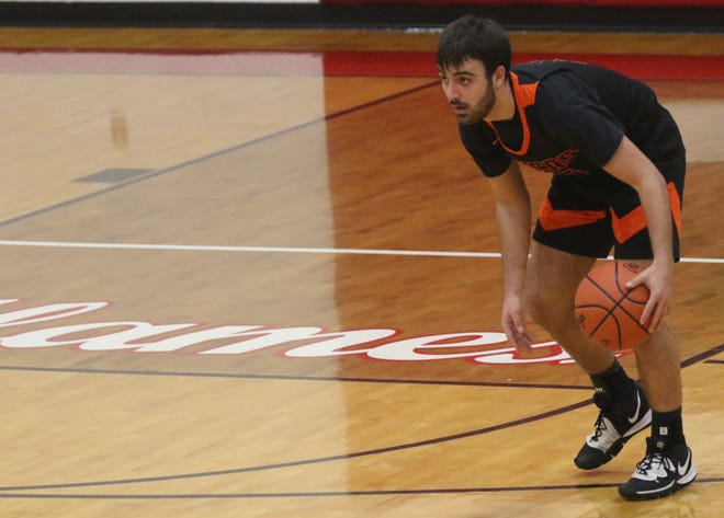 Lucas' Ethan Sauder needs just two points to reach 1,000-career points, but is the type of player who would rather his team win.