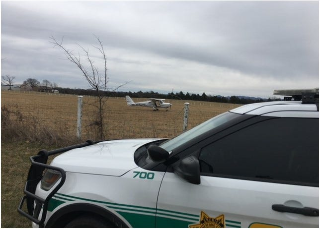 A Cessna 162 airplane made an emergency landing in Rutherford County on Jan. 30, 2021