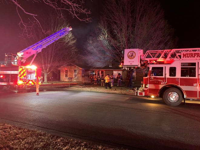 The Murfreesboro Fire Rescue Department responded to a call at the 1700 block of Craig Court early Saturday morning, Jan. 30, 2021.