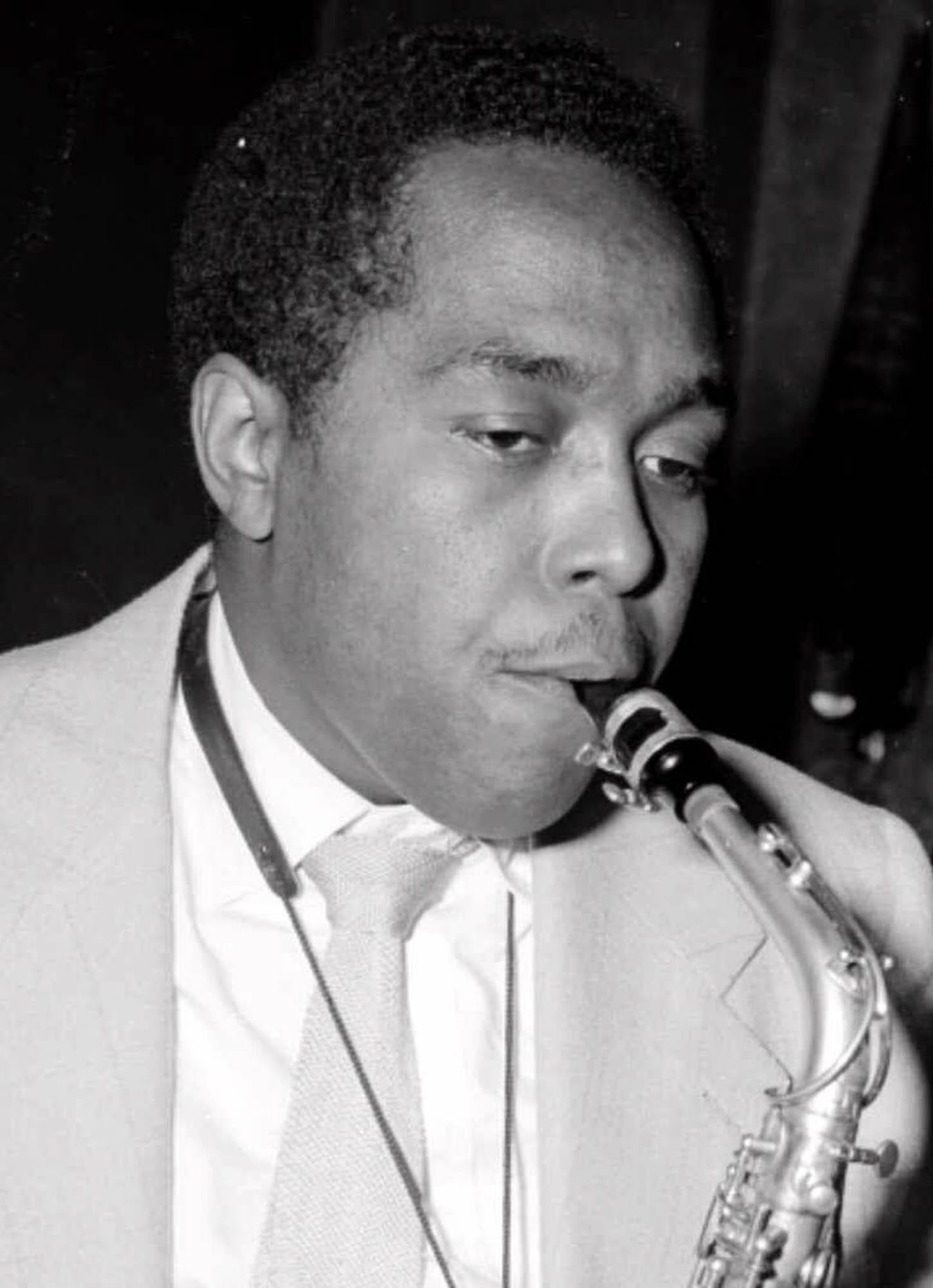 Jazz great Charlie Parker performs in Paris on May 8, 1949.