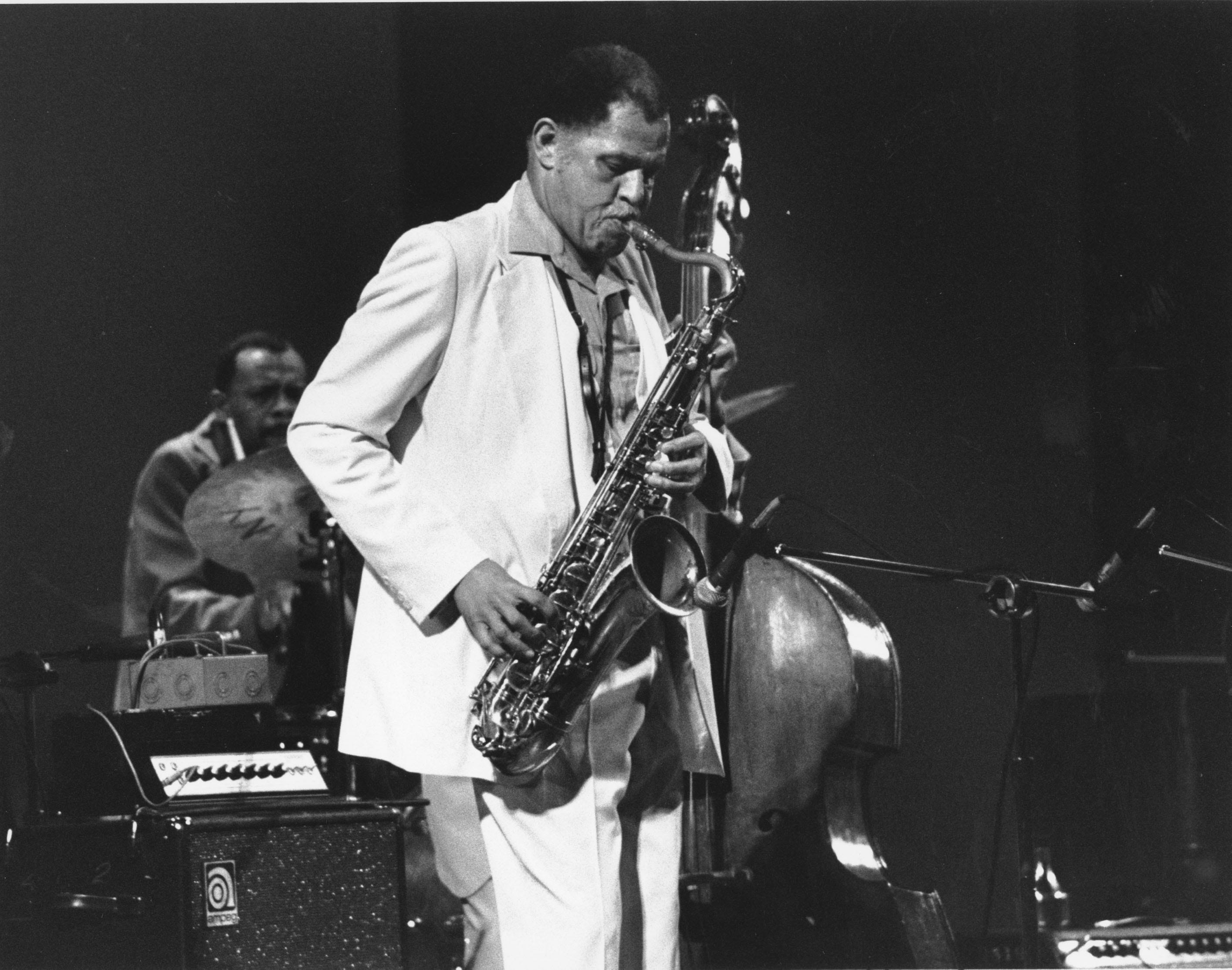 Dexter Gordon performs at the Charlie Parker tribute at Carnegie Hall in New York City on June 28, 1980.