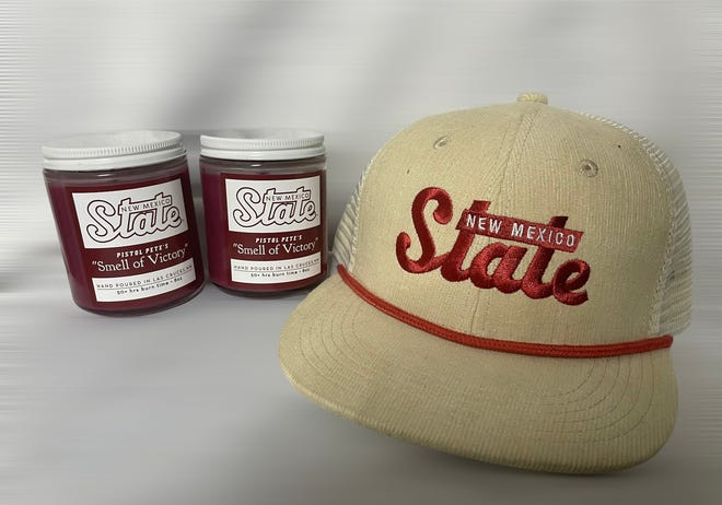 """New Mexico State University and Kreative Candle Co. have launched Pistol Pete's """"Smell of Victory"""" candle, the latest in NMSU's growing line of collegiate-licensed products."""