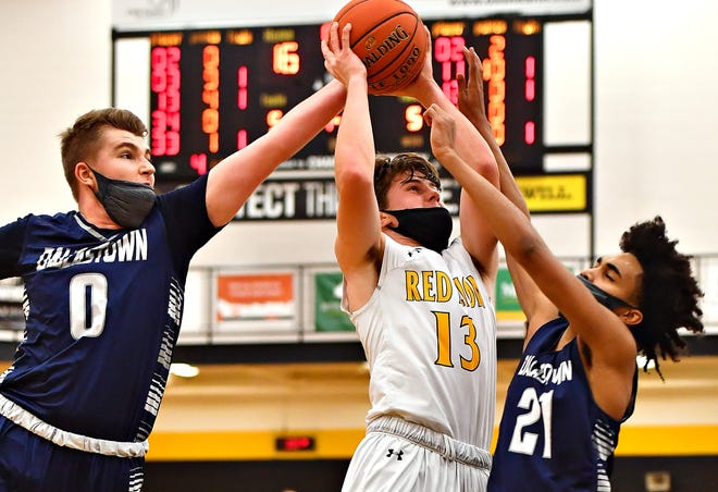 Evan Watt, seen here in a file photo, had 19 points for Red Lion on Friday night in a win over South Western.