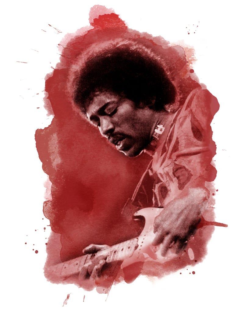 Jimi Hendrix in 1970.