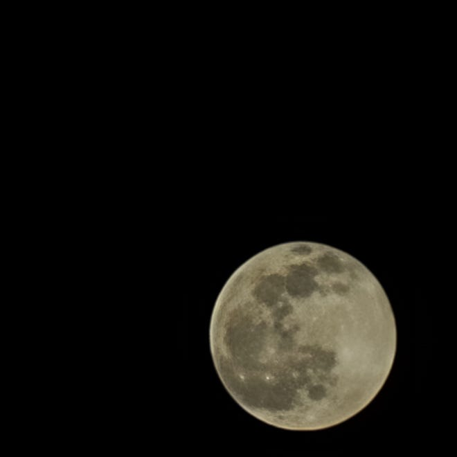 """The full moon on Jan. 28. For millennia, people across the world, including Native Americans, named the months after nature's cues, thus the name """"snow moon"""" for February's full moon."""