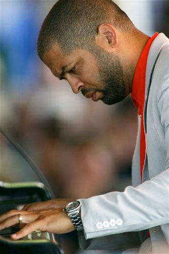 Jason Moran performs at the CareFusion Newport Jazz Festival on Sunday, Aug. 8, 2010 in Newport, R.I.