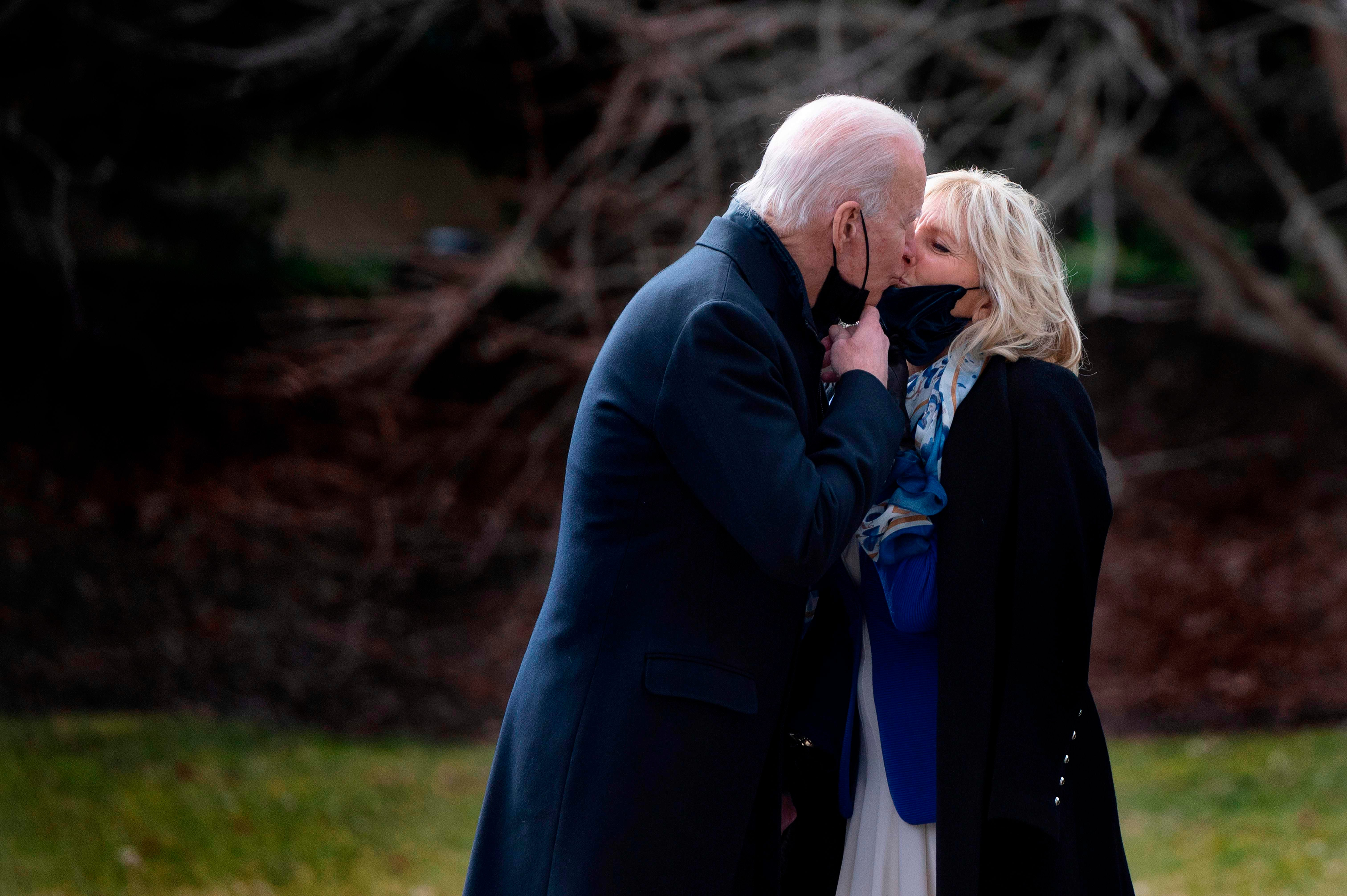 Joe, Jill Biden talk adjusting to the White House, loving  messages on the mirror  in joint interview