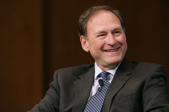 Supreme Court Associate Justice Samuel Alito speaks during the Georgetown University Law Center's third annual Dean's Lecture to the Graduating Class in the Hart Auditorium in McDonough Hall on February 23, 2016, in Washington, D.C.