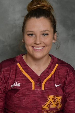 Cassie Querrey was selected as the NSIC Player to Watch for the Minnesota Crookston softball team this season.