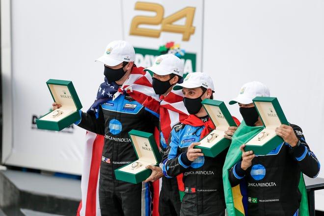 Wayne Taylor Racing: Acura No.10 pilotos vencedores da Rolex 24: Alexander Rossi, Ricky Taylor, Felipe Albuquerque e Helio Castronivis.