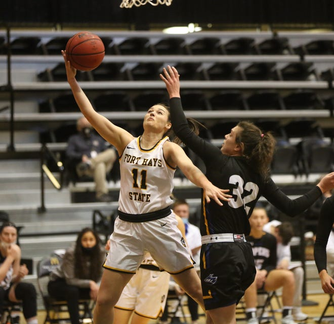 Fort Hays State's Jaden Hobbs was named a WBCA honorable mention All-American.