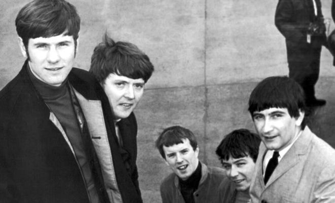 The Animals, from left, Hilton Valentine, Chas Chandler, John Steel, Eric Burdon and Dave Rowberry, in 1965.  [AP Photo/Victor Boynton, File]