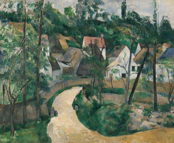 """Paul Cézanne, """"Turn in the Road, about 1881"""
