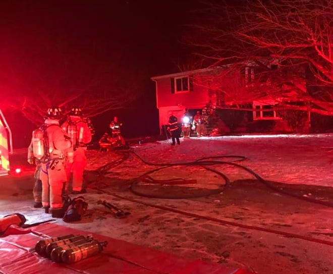 Middletown firefighters responded to a call at 2 Roseart Terrace on Saturday night.