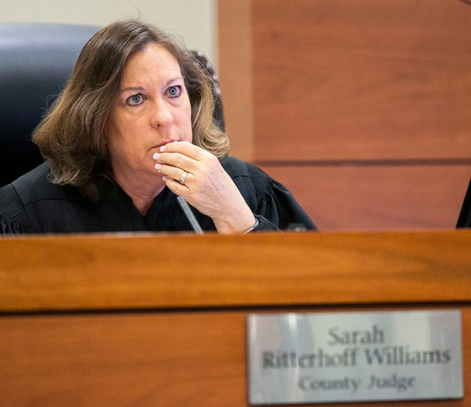 County Judge Sarah Ritterhoff Williams, shown in this 2019 file photo, has announced that she will be retiring.