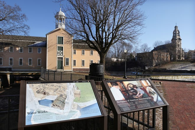 Pawtucket's Slater Mill along the Blackstone River.