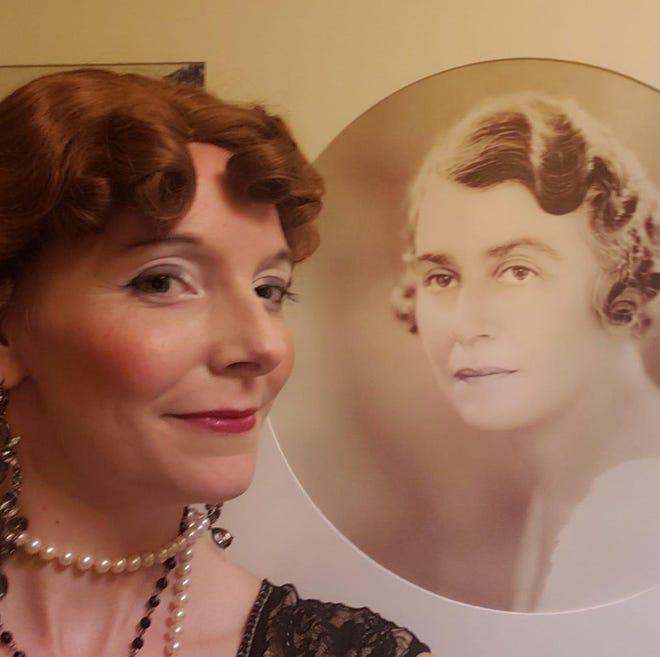 """Eileen Earnest plays Gwendolyn Crosley, wife of Powel Crosley, in the SaraSolo Festival production """"An Evening with Gwendolyn?"""""""