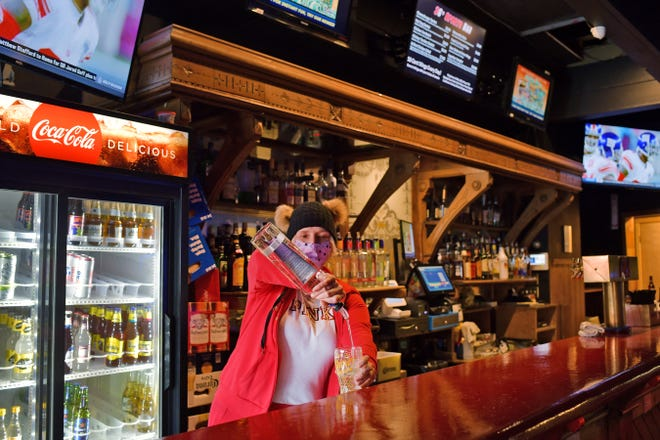 Wendy Silverstein, bartender at Three G's Sports Bar in Worcester, said she plans to dress the part for the Super Bowl later this week.