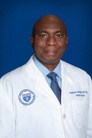 Dr. Nowokere Esemuede is a Vascular Surgery SpecialistatRockledge Regional Medical Center.