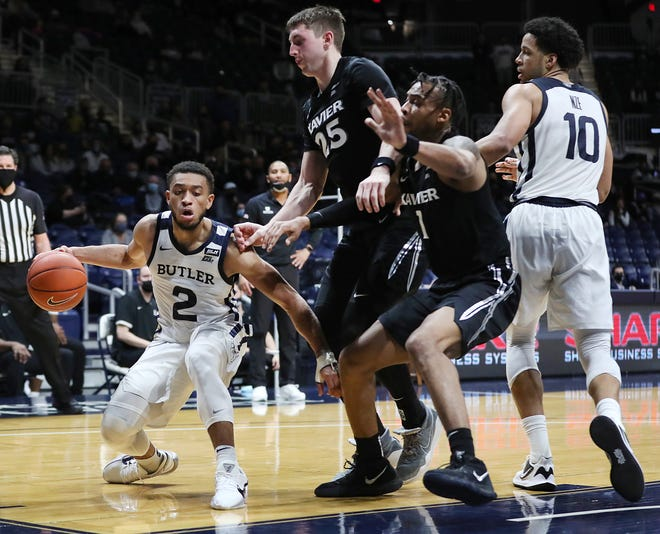 Paul Scruggs had a big day when Xavier beat Butler 68-55 on January 30. He scored a team-high 24 points with seven rebounds and three assists.