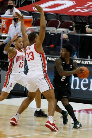 Rocket Watts got the start at point guard for Michigan State against Ohio State on Sunday, but it didn't lead to much of an increase in production in the 79-62 defeat.