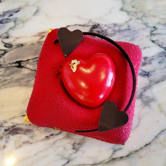 Vaentine heart mousse cake by Ciel in Westwood