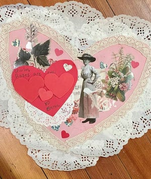 "Reserve your ""Be Mine, Victorian Valentine"" Kit from the History Center and enjoy crafting some Valentine's Day fun!"