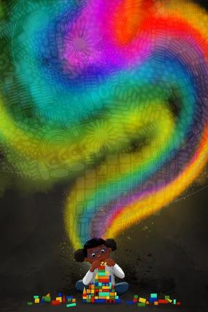 """Spectrum Thinker"" is one of the works by children's book illustrator Elizabeth Lampman Davis."