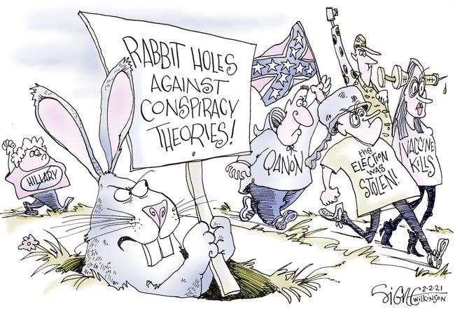 Signe cartoonRabbit Holes
