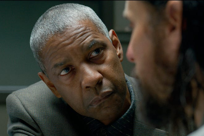 """This image released by Warner Bros. Pictures shows Denzel Washington and Jared Leto in a scene from """"The Little Things."""""""