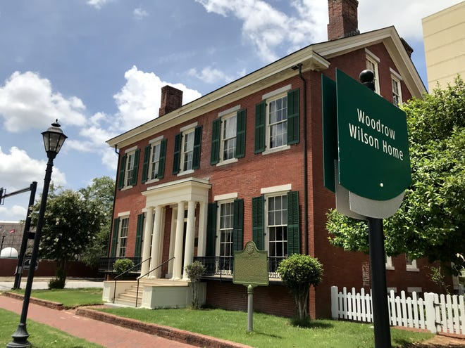 The Boyhood Home of President Woodrow Wilson is located at Seventh and Telfair streets in downtown Augusta.
