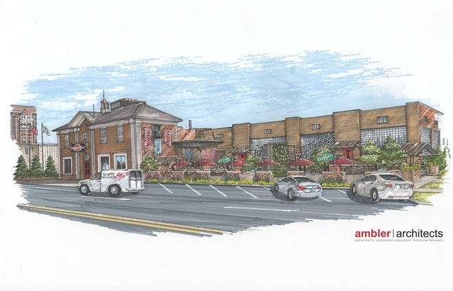 A rendering of On the Rock Ministries' new campus in the former Crystal Creamery building