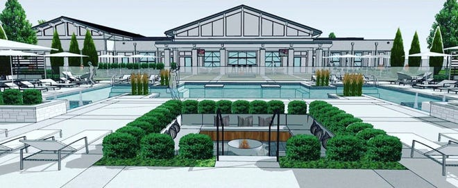 A rendering of the clubhouse planned for the Liberty Grand development by Schottenstein Real Estate Group.