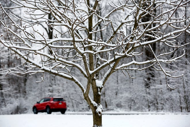 A winter storm warning was issued by the National Weather Service beginning early Monday morning.