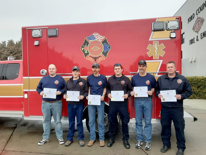The winners and honorees of the Firefighter of the Year award and EMT/Paramedic of the Year award, presented by the VFW.