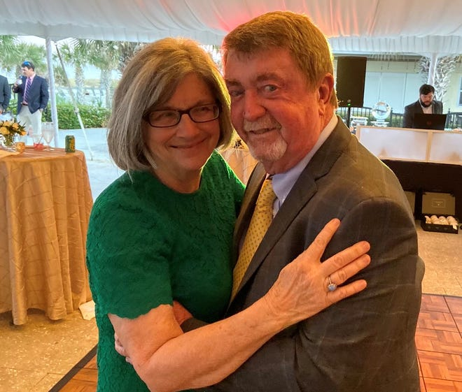 Kathy and Danny Aylwin, last March at their son Todd's wedding.