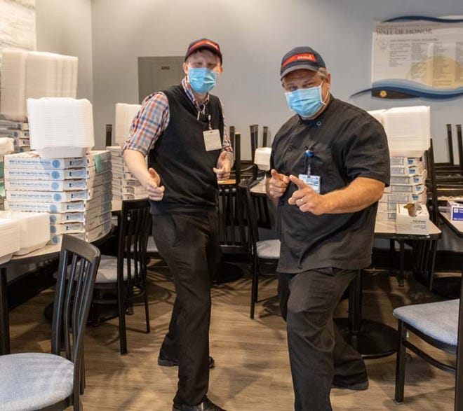 """Onslow Memorial Hospital employees were recently treated on """"Thankful Thursday"""" with Domino's pizza by Modern Exterminating Company and Sanders Ford. Local businesses can support hard working hospital employees by donating to OMH's  Thankful Thursdays campaign: https://onslowfoundation.org/thankful-thursday.php"""